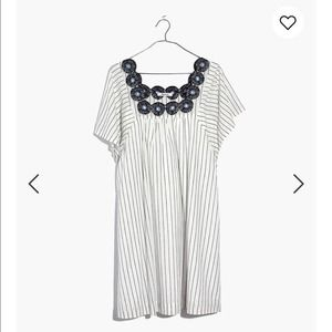 Madewell Embroidered Butterfly Dress Xs